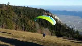 SpeedFlying HoheWand Austria - Oststart - Ozone Firefly 2 - Foot Launch - Start