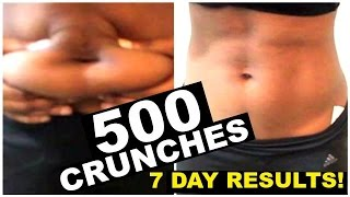 WHAT 500 AB CRUNCHES DID TO ME!!!
