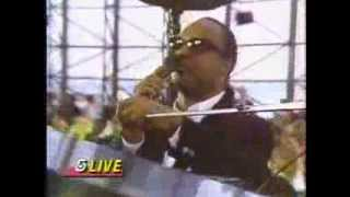 "Stevie Wonder performing ""Keep Our Love Alive"" at Kennedy Library - June 23, 1990"