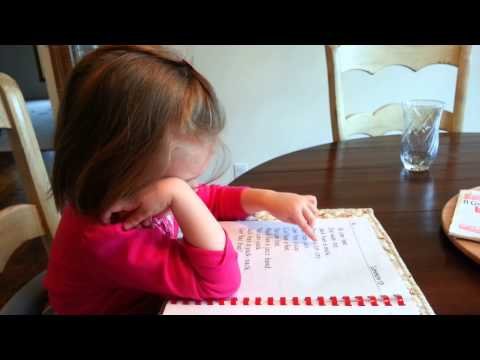 3 year old reading with Alpha Phonics