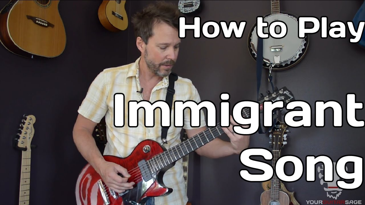 how to play immigrant song by led zeppelin guitar lesson youtube. Black Bedroom Furniture Sets. Home Design Ideas