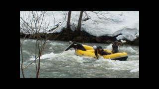 北海道ライオンアドベンチャー 尻別川 激流ラフティング 2010 4 21