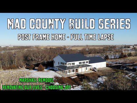 TIMELAPSE | Epic Post Frame Home