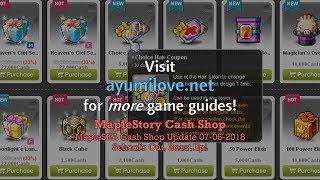 Ayumilove MapleStory Esfera BGM + MSEA Cash Shop Update (June 9, 2018)