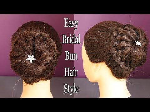 Latest Bridal Bun Hair Style|| wedding hairstyles || wedding juda hairstyle || juda hairstyle 2018