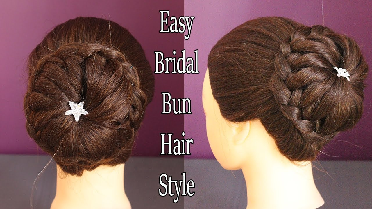 latest bridal bun hair style|| wedding hairstyles || wedding juda hairstyle || juda hairstyle 2018