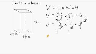 Volume Of Rectangular Prisms - Multiplying Mixed Numbers
