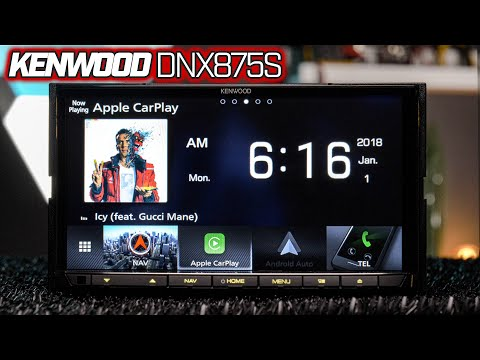 Kenwood DNX875S - Apple Carplay and Wireless Android Auto - Waze, Google Maps, Apple Maps