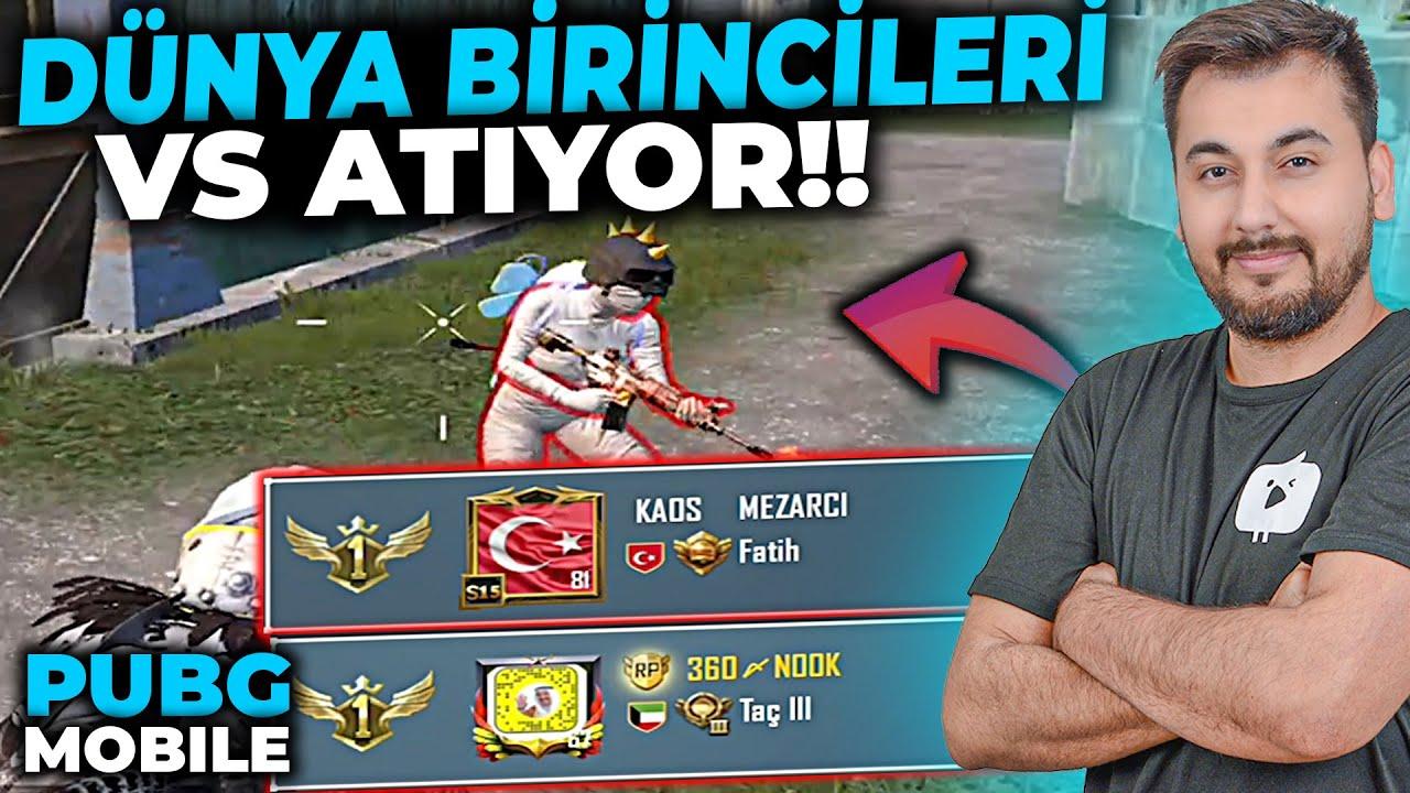 DÜNYA BİRİNCİLERİ VS ATIYOR!!  / PUBG MOBILE