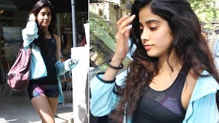 Jhanvi kapoor looks more sexy post her workout | photos