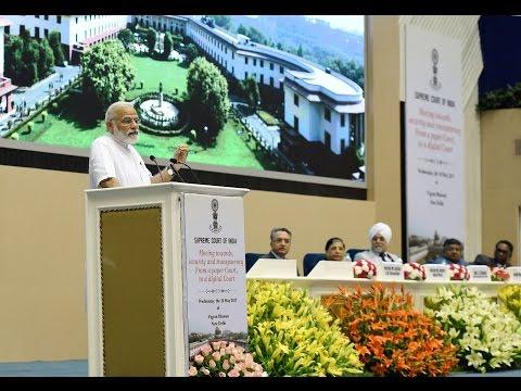 PM Narendra Modi Inaugurates Supreme Courts Journey Towards Digital Court