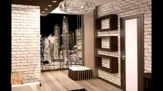 Декоративная гипсовая плитка под кирпич в интерьере / Интернет-магазин