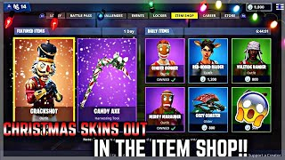 *LIVE* CHRISTMAS SKINS OUT!!!! *FORTNITE LIVE ITEM SHOP COUNTDOWN DECEMBER 8