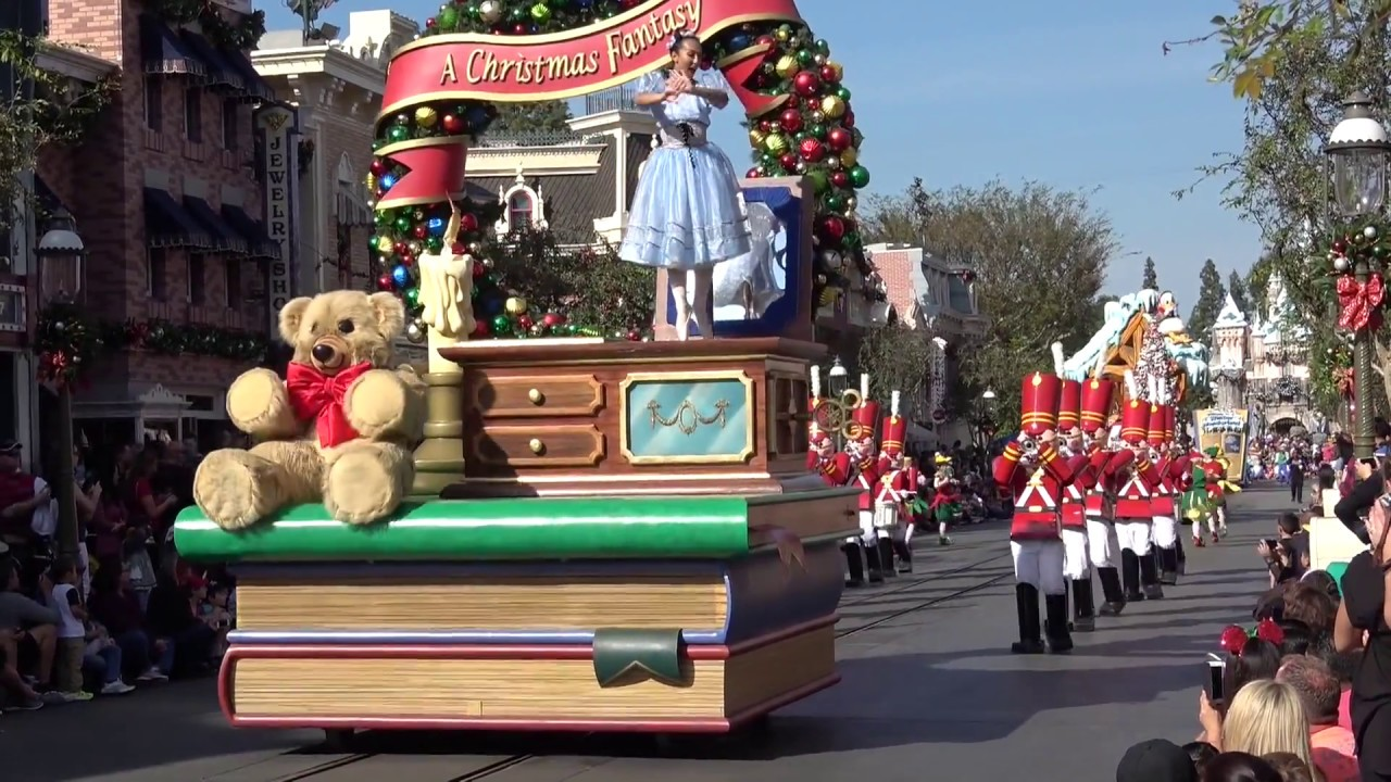 first a christmas fantasy parade of 2017 disneyland resort holiday time