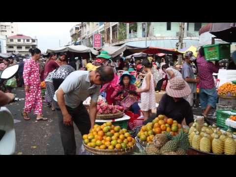Asian Street Food, My Travel Around Cambodian Market Food, Fast Food In Asian Countries