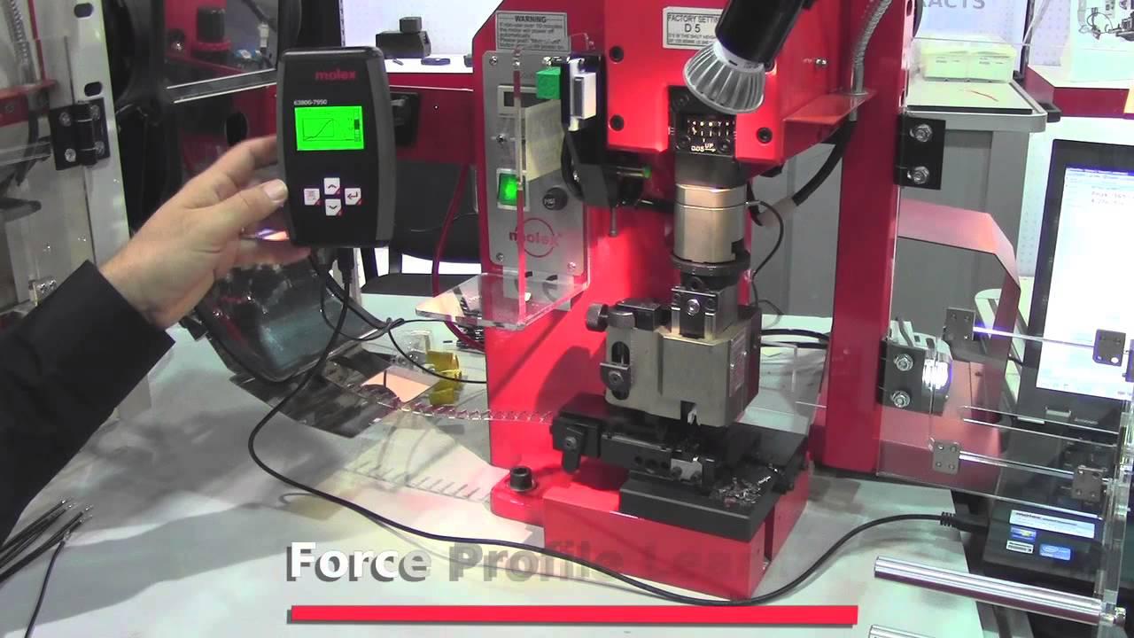 molex crimp machine