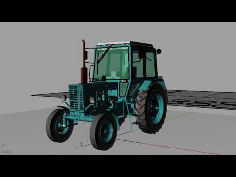 Rhinoceros 4  Проект трактора МТЗ 80 УК