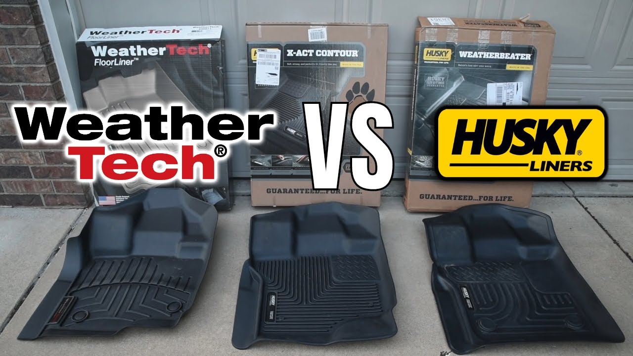 Comparing All Weather Floor Liners Weather Tech Vs Husky Youtube