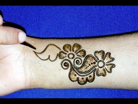 Full hand shaded Arabic Mehndi designs    Simple /Easy mehendi designs 2019    mehndi designs thumbnail
