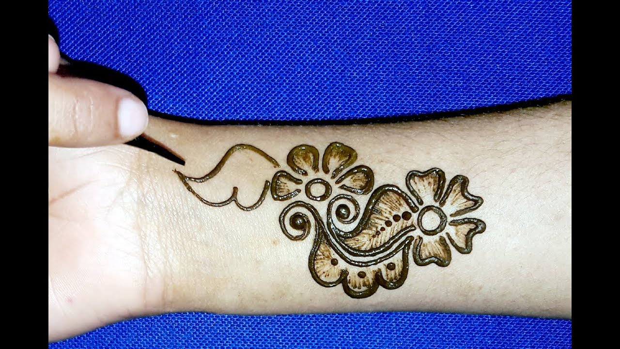 Full Hand Shaded Arabic Mehndi Designs Simple Easy