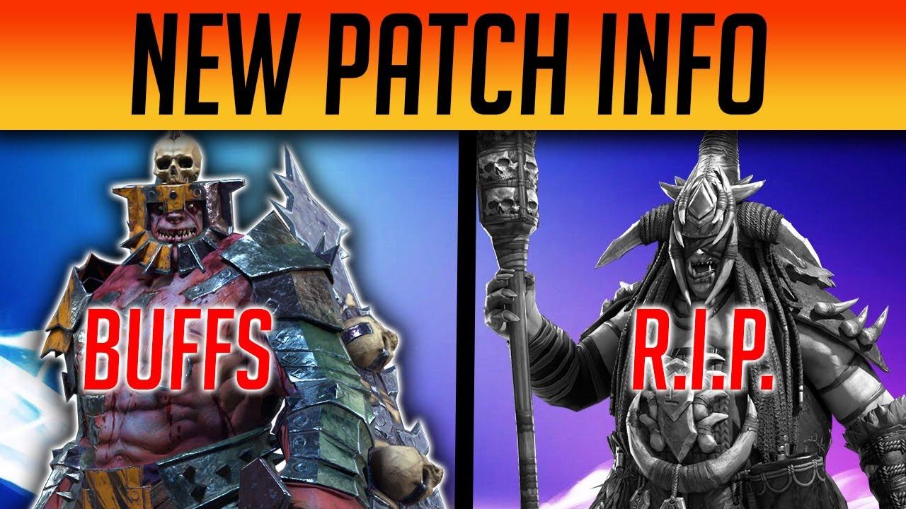 Download OFFICIAL BUFFS & NERFS PATCH NOTES   Raid: Shadow Legends
