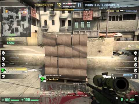 CS:GO - insane awp clutch (DZ| overdose)