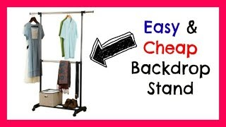 Video Backdrop Stand | Easy, Cheap, Collapsible, & Adjustable