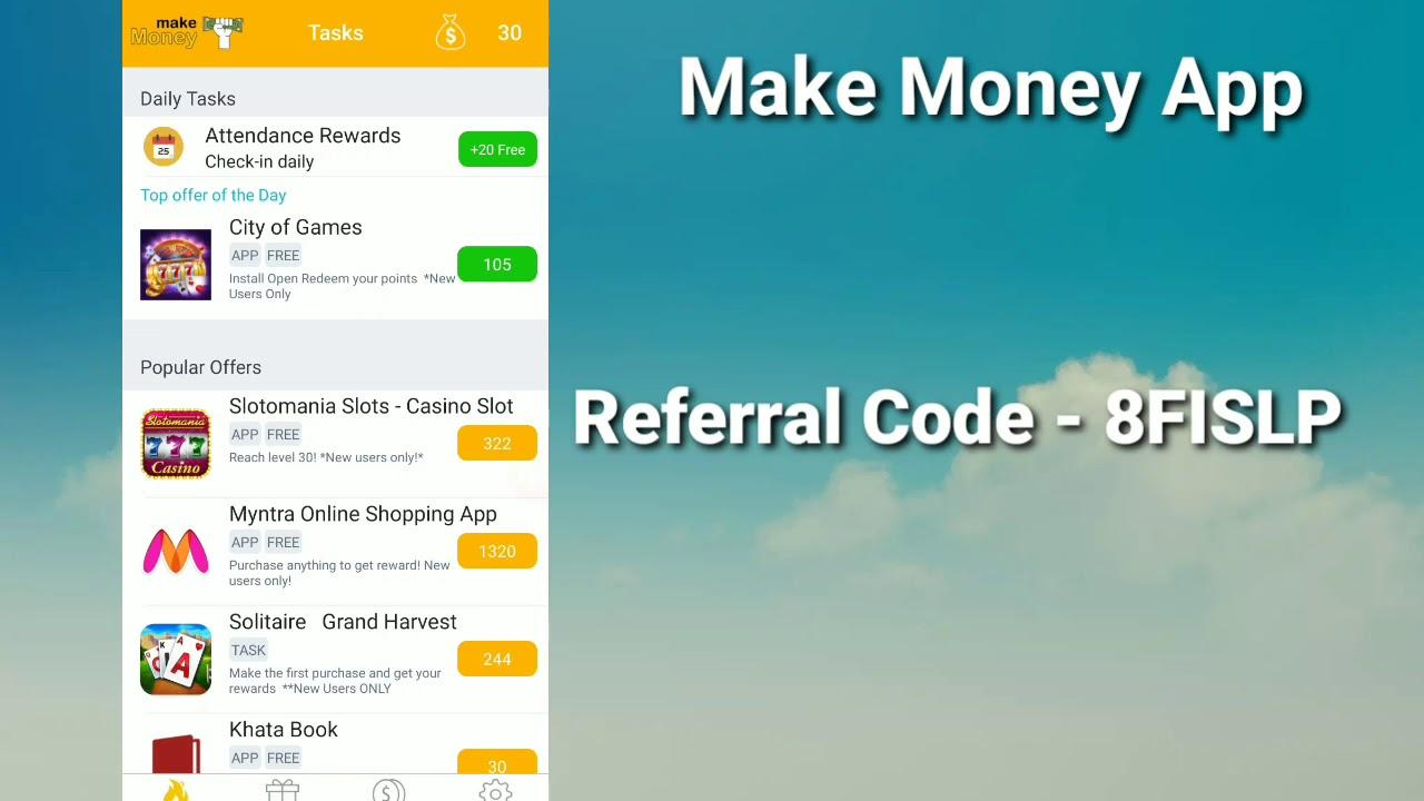Make Money Referral Code Kya Hai Make Money App Referral Code Make Money App Referral Code Tamil Youtube