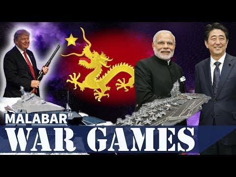 मालाबार में भारत, अमेरिका और जापान के संयुक्त युद्धाभ्यास से चीन घबराहट में - Malabar War Games