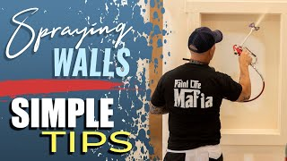 Spraying Interior Walls And Airless Sprayer Paint Sprayer Tips