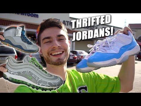 TONS OF JORDANS COP'T IN THE THRIFT SHOP! Trip to the Thrift #222