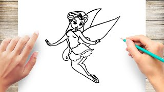 How to Draw a Fairy Step by Step for Kids