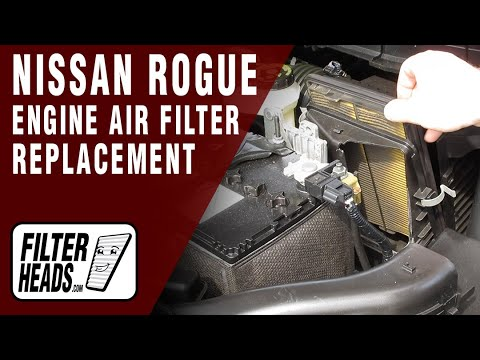 How to Replace Engine Air Filter 2017 Nissan Rogue L4 2.5L