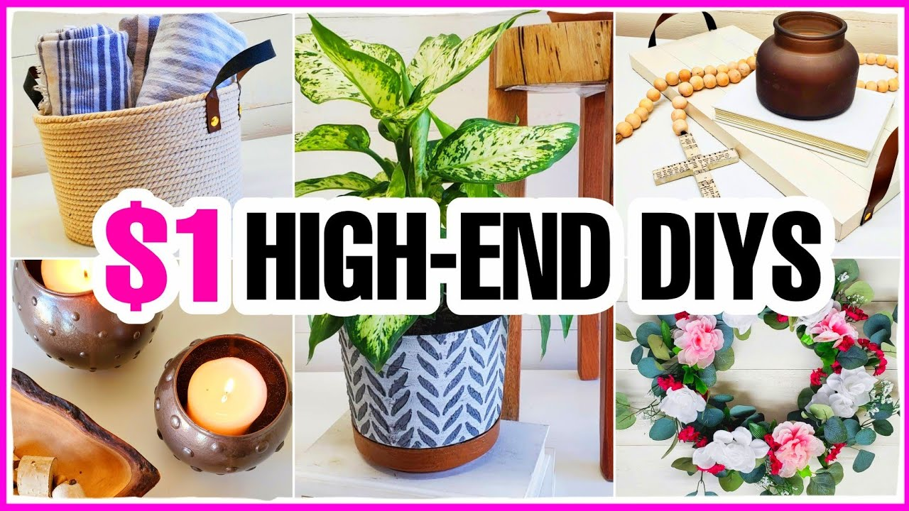 5 EXTREMELY EASY (not cheesy) Dollar Tree DIYs that look high-end