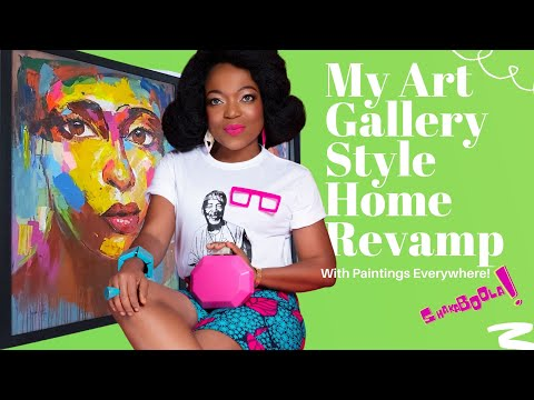 A Tour of My Home Revamp: Transforming my home with Nigerian Art.