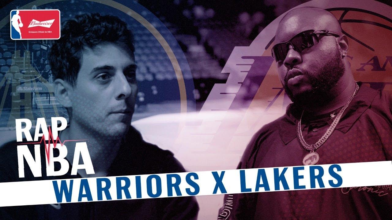 WARRIORS X LAKERS! LeBron ou Curry? | Batalha de rap com Brazza e Zuluzão - RAP NBA