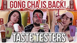 We Tried Gong Cha's New Drink Flavours | Taste Testers | Ep 33