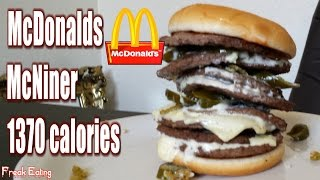 Mcdonalds Mcniner Jalapeno Burger #yardbarker #foodporn | Freakeating Vs The World 65