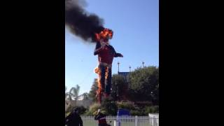 Big Tex on Fire after 60 years at the Texas State Fair