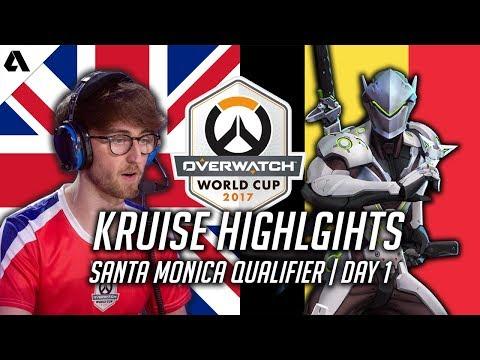 Overwatch | UK vs Belgium - What Training in Korea Did to Kruise on Genji | World Cup Highlights