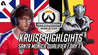 This Overwatch gameplay highlights Kruise on Genji in UK's match ag...
