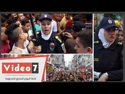 الشرطة النسائية تواصل تأمين الفتيات من التحرش فى ثانى أيام العيد  - 20:22-2018 / 6 / 16