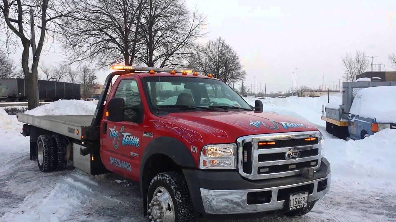 Ford F550 Tow Truck Code3 Amber Lighting Setup J Team