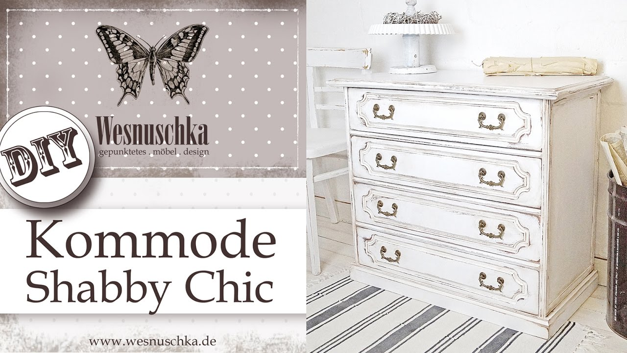 Fantastisch DIY: PATINA IM SHABBY CHIC | How to shabby chic furniture with  JT17