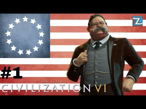 Civilization 6 - UNITED STATES! [1] Fazendo o certo! Vamos Jogar Gameplay Português PTBR Civ 6