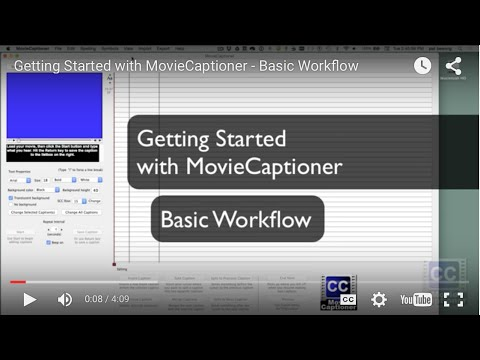 MovieCaptioner - Closed Captioning Software for Mac and