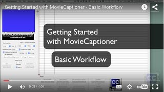 Getting Started with MovieCaptioner - Basic Workflow