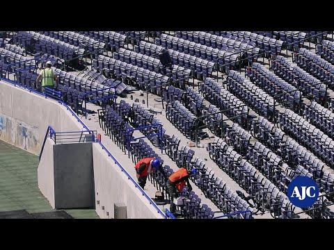 VIDEO: New Georgia State University stadium and head football coach