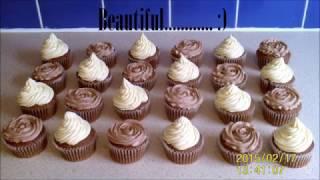 Easy piping tutorial - Frilly chocolate roses & Icecream vanilla swirls