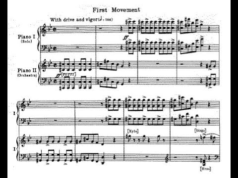 Morton Gould - American Concertette for piano and orchestra (audio + sheet music)